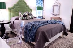 lamps, pillows, end tables