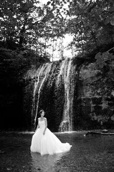 Waterfall Trash the Dress- makes for a beautiful picture, but I dont think I could do it to mine!