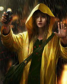 Rain by OmeN2501 #grenade #illustration #painting