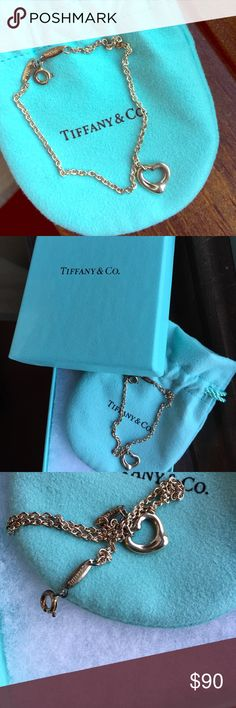 Tiffany & Co Open Heart Bracelet Got this as a graduation gift, it's been sitting in the box for 2 years. Never worn once! Tiffany & Co. Jewelry Bracelets
