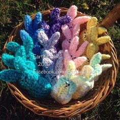 Fresh off my hook...a gang of #marshmallowpeeps #amigurumi style...#crocheted with love using #reclaimed & #leftover #yarn and filled with #tshirts to keep the out of landfills...perfect #caloriefree #easter treat! Writing a #loveletter to #mothernature with every stitch. #EarthyChild #shopgreen #chocolatecrocheter #uniquegift #easterbaskets #greenbusiness #makersgonnamake #yarnaddict #757 #dmv #7cities #handmadetoys #handmade #cutenessoverload #bunniesofinstagram #bunny #hamptonva #upcycled…