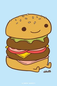 Burgu will be your friend, but don't eat him :P #cute #burger