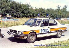 BMW Police Car www.throughtheireyes2.co.uk British Police Cars, Old Police Cars, Emergency Vehicles, Police Vehicles, Bmw 535i, Bmw E21, 1st Responders, Police Patrol, Bentley Car