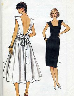 Vintage Vogue 8671 UNCUT Misses Dramatic Plunging by RomasMaison, $24.00