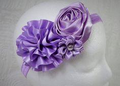 Lavender Headband Baby Girl Headband Baby by TheMomentWedding
