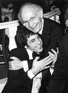 """Lovely photo of Al Pacino and his """"spiritual father"""", Lee Strasberg"""