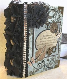 """""""A SEASON..AND A TIME.."""" shabby vintage premade scrapbook album by Cindy"""
