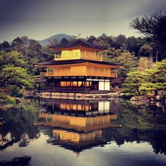 The Golden Pavilion – This is the most beautiful temple I have ever seen. If you see one thing in Kyoto, make it the Golden Pavilion or Kinkakuji. I was lucky to visit in the late afternoon when the sun was just hitting the temple letting it reflect even a bit brighter on the water.
