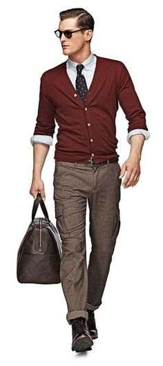 men's business casual thin cardigan