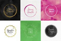 Feminine Logo Creator Circle Edition by Worn Out Media Co. on Creative Market