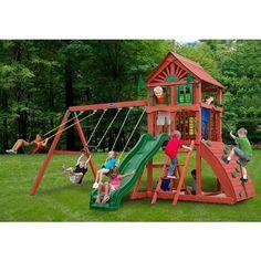 25 best playtime images cedar swing sets back garden ideas rh pinterest com