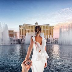 #followmeto Las Vegas with @yourleo. It was our first destination after the wedding. Thanks to our friends @beautifuldestinations and @bellagio for inviting us! Tell me your crazy Vegas stories :)!
