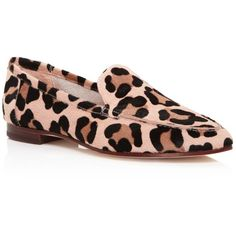 kate spade new york Carima Leopard Print Calf Hair Loafers ($285) ❤ liked on Polyvore featuring shoes, loafers, kate spade, calf hair shoes, haircalf shoes, loafers moccasins and leopard shoes