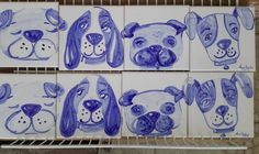 Dogs.... only today I noticed that I haven't post this pannel here after finished.  #tileaddiction #tiles #tilework #patterns #patternmaking #vintage #european #etsy #blue #instazulejo #heritage #heritageyoucanwear #azulejomania  #padrão #moisaico #surface #surfacepattern #surfacedesign #tileaddiction #carreauxdeceramique #cerámica #glaze #tilesofinstagram #tilesofportugal #ceramics #baldosa #etsy #etsyfinds #cerâmica #iliketiles #ilovetiles
