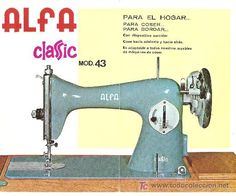 diptico publicidad original maquina de coser alfa classic mod.43 (Antigüedades - Técnicas - Máquinas de Coser Antiguas - Alfa)