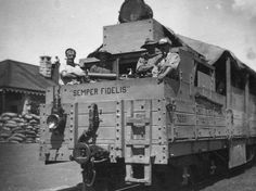 File:Canadian troops in armoured train South Africa Jan 1902 LAC The Centurions, Railroad Pictures, Semper Fidelis, Cartoon Photo, Train Art, Inner World, King And Country, Us Marine Corps, British Colonial