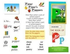 Letter P. Phoneme Puh. ABCS. Letter P First Sound Fluency This is a fun printable for teaching words that begin with the letter P or p. If you like it, please rate it and I will make more!Permission is granted to use this file to print one for each student in one class - 20 maximum. Please buy additional licenses for additional classes and teachers.Print front and back or on two separate pages and tape them back to back.