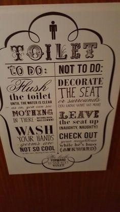 On the men's toilet door Toilet Door, Cool Stuff