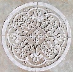 Soulevé de plâtre marocain médaillon Stencil, pochoir mural, Peinture pochoir, pochoir Craft
