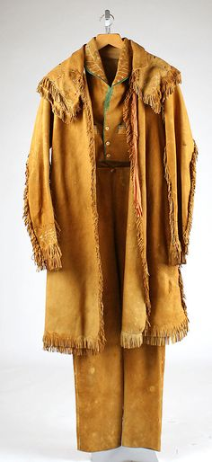 cs. 1835 American suit, leather & cottong