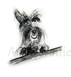 Scottie Dog Square Greeting Card 'Happy Scottie'    eBay