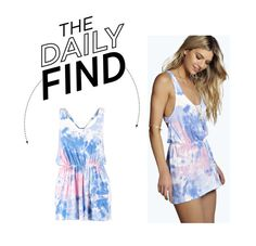 """""""Daily Find: Boohoo Tie Dye Romper"""" by polyvore-editorial ❤ liked on Polyvore"""