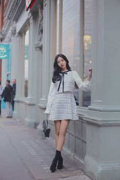Cute Asian Fashion, Korean Girl Fashion, Pretty Korean Girls, Kawaii Clothes, Cool Street Fashion, Looks Style, Fashion Outfits, Womens Fashion, Types Of Fashion Styles