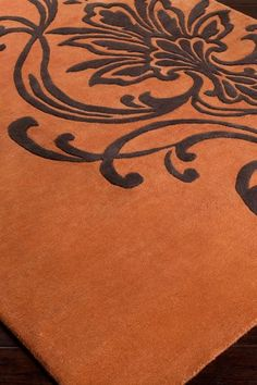 Modern Classics Collection New Zealand Wool Rug - Light Copper Damask by Surya on @HauteLook