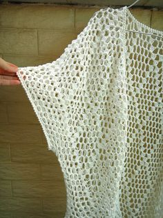 Fringe Kimono Cardigan Crochet Beach Cover Ups