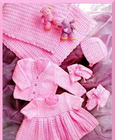 Baby KNITTING PATTERN  Shawl Dress Cardigan/Sweater by carolrosa