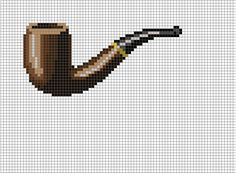 Magritte - This is not a pipe cross stitch pattern
