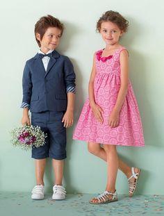 #Vestido de #cerimónia em #cetim, para #menina