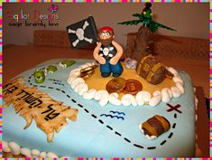 Birthday cake for my son  the pirate :-) by Sigaliot Designs, via Flickr