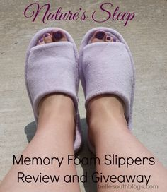 Review and Giveaway: Nature's Sleep Memory Foam Slippers (ends 8/17)