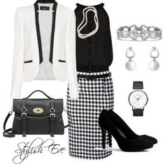 black and white fashion for women | Black and White Winter Catalog 2013 Outfits for Women by Stylish Eve ...  Check out the website
