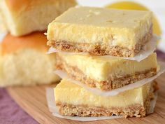 Lemon White Chocolate Bars with King Hawaiian crust