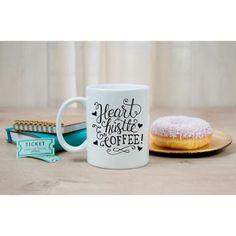 Heart Hustle and Coffee, Funny Coffee Mug, Entrepreneur Mug, Birthday Gift for her,  Gift for her, Entrepreneur gift Coffee Mug, Coffee cup