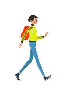 Walk Cycles by Jae Il Son, via Behance Walking Gif, Boy Walking, Walking Cartoon, Flash Animation, Animation Reference, Character Design Animation, Character Design References, Flat Illustration, Character Illustration