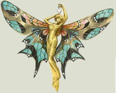 Winged female