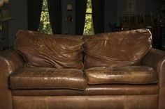 An old piece of leather furniture can be useful and comfortable for many more years.