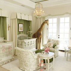 This elegant twin nursery is perfect for moms who welcomed two bundles of joy to the family.