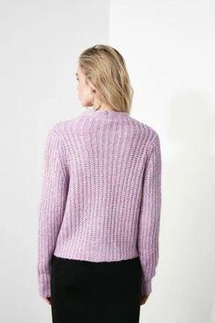 Women's Lilac Tricot Cardigan – Blushgreece.shop Lilac, Turtle Neck, Pullover, Model, Shop, Sweaters, Color, Fashion, Tricot