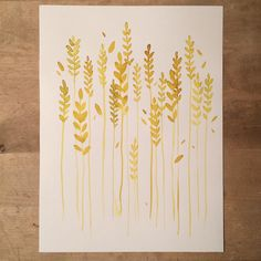 «Day 37/100. #the100dayproject #the100daysproject #100dayseventyr #painted #watercolor #grain #grainfield #korn #aks #kornåker #male»