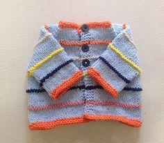 Free knitting pattern for Wee Bean Baby Cardigan