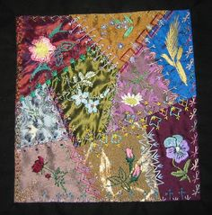 Betty Pillsbury & Green Spiral Herbs  from pattern to finished block
