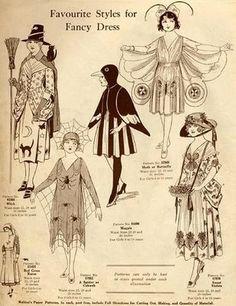 Fancy Dress Styles. circa 1925