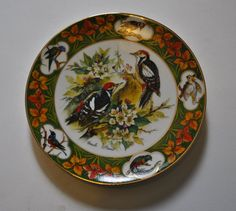 Woodpeckers - Ursula Band - Vintage collectible china plate - Bradford Exchange
