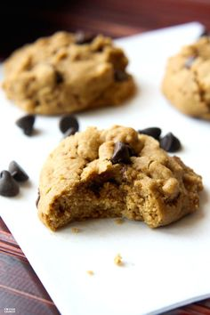 The Best Ever Gluten Free and Dairy Free Maple Chocolate Chip Cookies! These cookies are full of flavor, lower in sugar than most cookies, and with a soft but slightly crispy texture.  Kid, athlete, husband tested and approved. Simple real food ingredients!