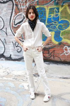 The manifold ways to wear white jeans @Madewell