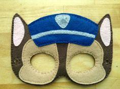 Paw Patrol Felt Mask by HappyTimeCrafts on Etsy